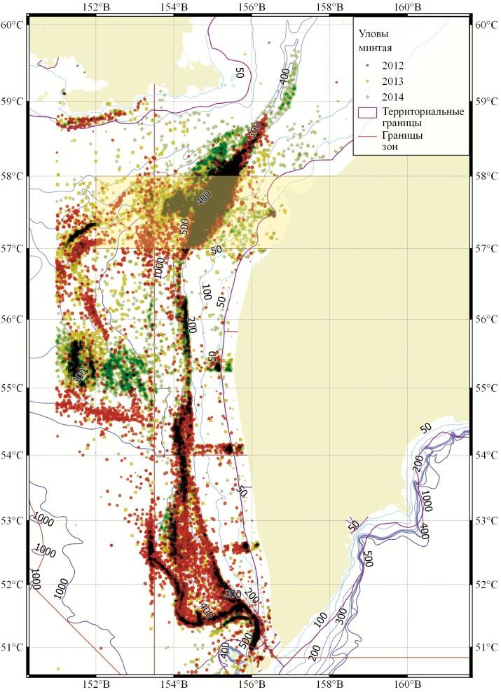Предложения к управлению траловым промыслом минтая в Охотском море в 2015 году