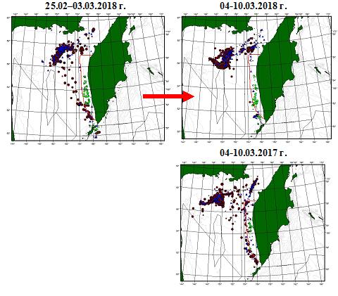 Прогноз синоптической, ледовой и промысловой обстановки в северной части Охотского моря
